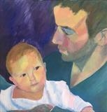David and Emily Dorrell by Cathy Williams, Painting, Oil on canvas