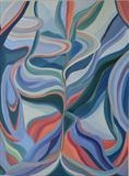 Distortion 13 by Cathy Williams, Painting, Oil on canvas