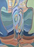 Distortion 4 by Cathy Williams, Painting, Oil on canvas