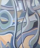 Distortion three by Cathy Williams, Painting, Oil on canvas