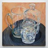 Glass jugs by Cathy Williams, Painting, Oil on canvas