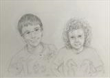 Joseph and Emily by Cathy Williams, Drawing, Pencil on paper