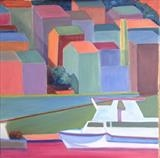 Quai Obelisque, Port-Vendres by Cathy Williams, Painting, Oil on canvas