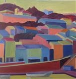Up to Fort Saint Elme, Port-Vendres by Cathy Williams, Painting, Oil on canvas
