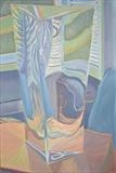 Window through glass vase 2 by Cathy Williams, Painting, Oil on canvas